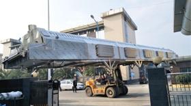 一台16米隧道式液氮速冻机发往广东交货